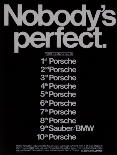 I saw a Porsche 956.